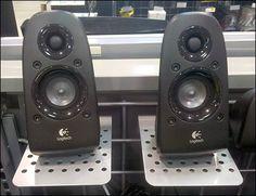 Speaker Platforms for Wire Grid – Fixtures Close Up , Speaker System, Apple Tv, Pedestal, Close Up, Grid, Remote, Shelf, Speaker Wire, Platforms