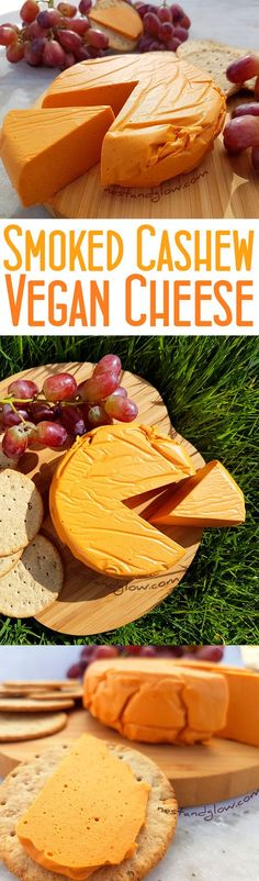 Smoked Cashew Vegan Cheese Recipe - Quick, easy and healthy plant-based cheese via @nestandglow