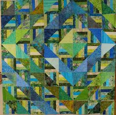 And Sew Forth: Extremely Quick- quilt made from jelly roll and layer cake