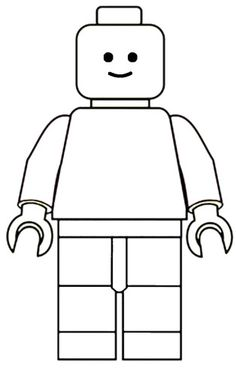 Lego Mini Fig Drawing Template Lego Template and Free printable