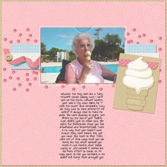 5/5/13 Digital Scrapbooking LOTD: Todays Layout of the Day is Mmm Ice Cream by lukasmummy