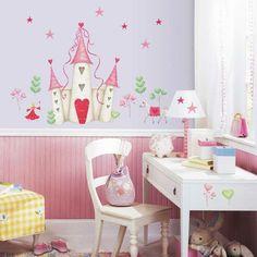 kinderzimmer deko ideen wandtattoos märchenmotive