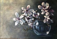 Oil on canvas - Susan Slump Venter Magnolia, Oil On Canvas, My Arts, Plants, Magnolias, Plant, Planets