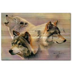 Wolves Are Forever Painting Print on Wood