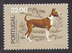 Dog Art Full Body Postage Stamp Portuguese PODENGO Native Portugal Dogs 1981 MNH Portuguese Podengo, Dogs 1981, Portugal Portuguese Timorous, ...