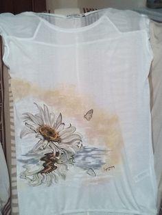 ...dipinto su maglietta di cotone