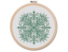 Mandala Counted Cross stitch Pattern PDF Cross by KHANNAandILAN                                                                                                                                                                                 More