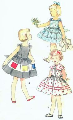 1950s Cute Little Girls Dress and Bolero Jacket Pattern 2 Sweet Styles Simplicity 1111 Vintage Sewing Pattern Size 6 FACTORY FOLDED