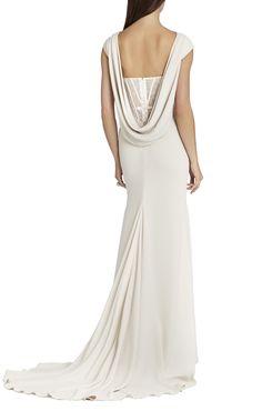 #ItsANiceDayForAWhiteWedding - #BCBG #bcbgmaxazria #Juliet #Cowl #Back Exposed #Corset #Gown #bridal #wedding