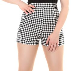 COLLECTIF+AYANA+GINGHAM+SHORTS+-+Get+a+little+giddy+for+some+gingham!+The+Ayana+shorts+are+perfect+for+summer!+These+shorts+feature+a+high+waist+and+are+super+super+short!+They+have+a+side+zip+and+fastener+for+a+clean+silhouette+and+a+handy+pocket!+Pair+with+your+favorite+tee+or+crop+top+for+a+completed+look.+