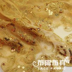 золотая линия растворимые в воде кружева блестка ткани компьютерная вышивка ткани высокое качество ткани US $25.00