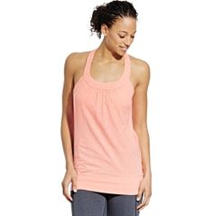 Be cool and move freely when you practice in the CALIA™ by Carrie Underwood Women's Double Layer Keyhole Back Tank Top. With a built-in bra that features power mesh, this tank provides the extra support needed during your workout. The key hole back provides cooling ventilation while it also adds feminine design. Soft, moisture-wicking fabric keeps you dry, while the longer length and banded bottom keep your top in place during barre class.