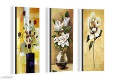 Paintings & Posters Attractive Trendy Wall Posters  Material: MDF  Size- (L X W ): 36 cm X 45 cm Description: It Has 3 Pieces Of Wall Poster Work: Printed Country of Origin: India Sizes Available: Free Size   Catalog Rating: ★4.1 (6086)  Catalog Name: Navratri Multicolor Attractive Trendy Wall Posters Vol 5 CatalogID_622663 C127-SC1611 Code: 391-4339491-792