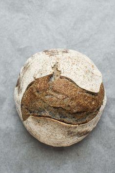 Charcoal powder sourdough bread