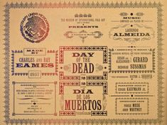 DAY OF THE DEAD by Charles and Ray #Eames #diasdellosmuertos 2017!