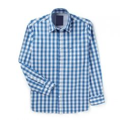 Bright Blue Checked Shirt  GENERAL INFO  The soothing blue is the perfect hue to heighten the casual yet stern proffesional look. This shirt features a curved hemline, full sleeves, collaras and cuffs.  PRODUCT INFO 100% cotton, machine wash cold  PRIVATE LABEL / OEM All the orders can be customized as per your specifications in terms of style, fabric material, color, size, patterns or logo, label, mark, packing, etc.