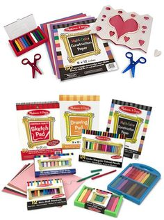 Handmade Valentines: Melissa & Doug has all the arts and craft supplies your children need. Check out these discounted art sets!