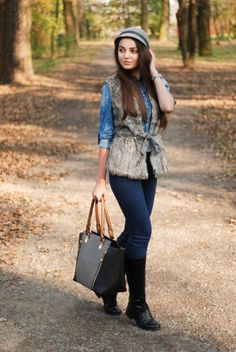25 Ways to Wear a Faux Fur Vest | StyleCaster