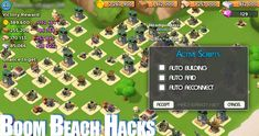 Boom Beach Hacks, Mods, Bots and other Cheats for iOS / Android Update Boom Beach Game, Beach Hacks, Game Resources, Game Update, Android Hacks, Test Card, Hack Online, Mobile Game, Free Games