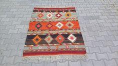 Boho, Bohemian Rug, Kilims, Kilim Rugs, Hand Weaving, Tassels, Etsy, Vintage, Type
