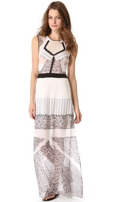 Sheer chiffon panels lend subtle allure to a mixed-print BCBGMAXAZRIA maxi dress. Buttons fasten over the cutout back, and the skirt closes with a hidden zip. Copy and paste this link in your browser http://shopbop.lgldr.net/ba4 and you will find a wonderland in the field of fashion industry.