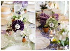 Fan table numbers from rusticweddingchic.com