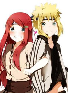 Kushina and Minato... i believe that my favorite naruto romance is kushina and minato its so cute!