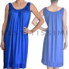 9d302ba7095f Abito vestito donna miniabito vestitino ESTIVO MARE copricostume canottiera  Vs23