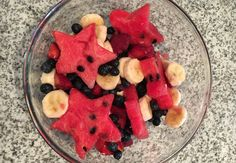 Star-spangled fruit salad is an easy, healthy side dish recipe, perfect for cookouts, a good way to use summer fruit.