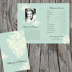 "Chrysanthemum: Funeral or Memorial Program - Bulletin - Order of Service, 8.5"" x 11"" or A4"