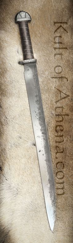 Anglo-Saxon Long Seax - Stage Combat Version - Brown Grip