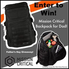 Mission Critical Diaper Bag Backpack Giveaway Ends 6/15 US Only