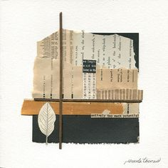 """""""Underrated"""" Mixed-media collage on paper with old papers, torn canvas and found rusty metal. Paper Collage Art, Collage Artwork, Collage Artists, Mixed Media Collage, Paper Art, Old Paper, Vintage Paper, Vintage Drawing, Diy Wall Art"""