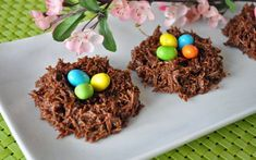 """""""Amazing Easter Food Ideas""""--links to various ideas; this one is Easter Eggs in Chocolate Nests Easter Candy, Easter Treats, Easter Eggs, Easter Food, Easter Stuff, Hoppy Easter, Easter Cookies, Easter Decor, Holiday Treats"""