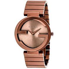 a4a00fd07a3 Gucci Men s YA133211 Interlocking Watches Brown Band