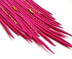 """Weiteres - dünne DE Wooldreads """"Pink Lady"""" - ein Designerstück von Katinka-Dreads bei DaWanda"""