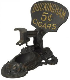 Advertising cigar cutter, Buckingham 5 Cent Cigars,