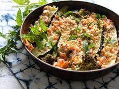 Gratin de courgettes, brocolis, saumon et feta, facile et pas cher 20 Min, Kung Pao Chicken, Fried Rice, Risotto, Potato Salad, Brunch, Menu, Ethnic Recipes, Food