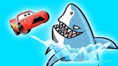 Disney Cars Mcqueen vs SHARK Finger Family Rhymes