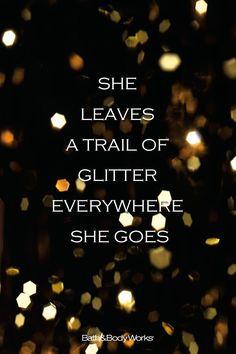 glitter trail