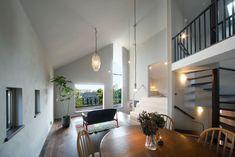 House in Kunimidai Japanese House, My House, House Design, Simple, Building, Interior, Modern, Table, Room