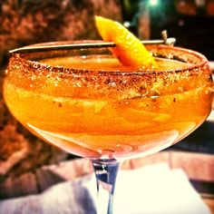 Bootlegger's Pumpkin Pie. Made with Moonshine, pumpkin butter, ginger syrup and sparkling.