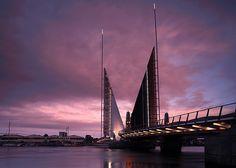 Twin Sails Bridge Poole Harbour Seas, Dusk, Sailing, Twins, River, Places, Photography, Inspiration, Candle