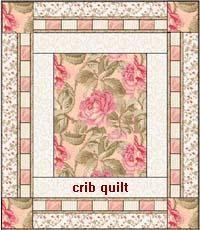 medallion crib quilt