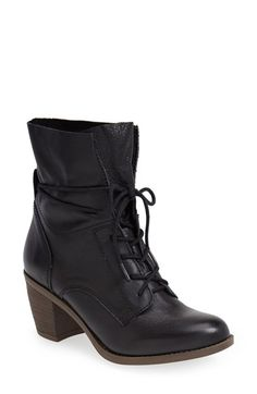 Free shipping and returns on Steve Madden 'Gretchun' Bootie (Women) at Nordstrom.com. Slim laces tie up the shaft of a slouchy leather bootie set on an on-trend stacked heel. Stay a step ahead in Steve Madden's trend-leading styles and easy-to-wear silhouettes. Inspired by rock and roll and fused with a jolt of urban edge, Madden creates products that are innovative, sometimes wild and always spot-on-chic.