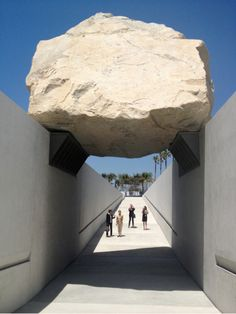 Michael Heizer's Levitated Mass at LACMA.