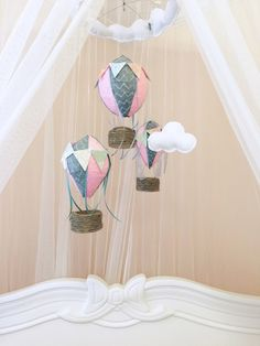 A personal favorite from my Etsy shop https://www.etsy.com/listing/225250553/pink-and-grey-hot-air-balloon-baby