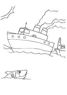 55 meilleures images du tableau coloriages de bateaux party boats ship et coloring pages - Dessin petit bateau ...