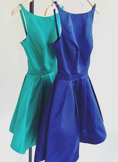 Cute A-Line Satin Short Prom Dress,Short Homecoming Dress