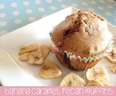 banana carmel pecan muffins
